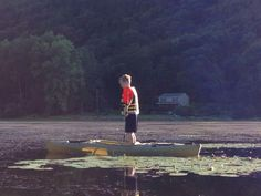 Flat water frog catching..just my boy and me
