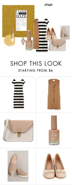 """""""stripe 2"""" by ajriyaf on Polyvore featuring Linea, 8, All Black and Burberry"""
