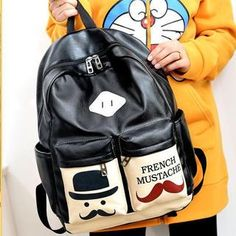 Buy 'Miss Sweety – Faux-Leather Mustache-Print Backpack' with Free Shipping at YesStyle.ca. Browse and shop for thousands of Asian fashion items from Taiwan and more!