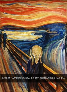 Oil painting (Scream) by Edvard Munch famous oil painting on canvas for wall decoration high quality Famous Art Paintings, Famous Artwork, Classic Paintings, Famous Art Pieces, Van Gogh Paintings, Great Paintings, Edvard Munch, Art And Illustration, Arte Inspo