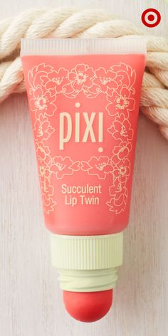 Want just a hint of color or maybe a bold, bright look? The Pixi Succulent Lip Twin gives you both. Use the lip balm inside the tube for light, glossy coverage, or use the lip and cheek creme inside the cap for more concentrated color.