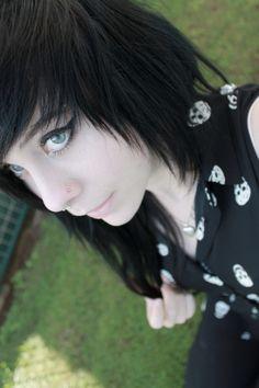 #black #dyed #scene #hair #pretty