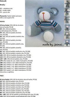 Modrý koník Amigurumi Patterns, Crochet Patterns, Microwave Bowl Holders, Diy Toys, Textiles, Crochet Toys, Free Pattern, Teddy Bear, Knitting