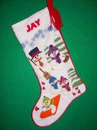 Znalezione obrazy dla zapytania Christmas stocking embroidery