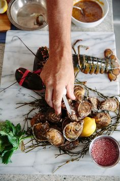The Perfect Dinner Party Menu Seafood Dishes, Seafood Recipes, Dinner Party Menu, Dinner Ideas, Food Design, Wine Recipes, Food Photography, Food And Drink, Yummy Food