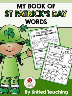 *** FREE *** My Book of St. Patrick's Day Words >> Trace it, box it, and color the picture. >> Great for teaching vocabulary for St. Patrick's Day!