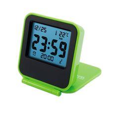 Travel Clock, KLAREN Alarm Clock Battery Operated Portable Digital Desk Clock Green