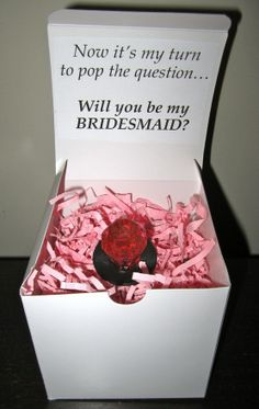 haha, aw, you get to pop the question