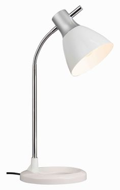JAN - pracovná lampa biela Desk Lamp, Table Lamp, Led, Lighting, Home Decor, Medium, Light Fixtures, Silver, Lamp Table