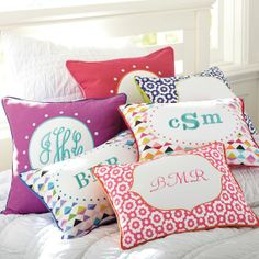 Abby Monogram Pillow Cover | PBteen