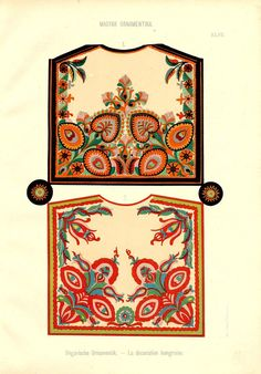 Free Clip Art and Digital Collage Sheet - Magyar Ornament Hungarian Embroidery, Folk Embroidery, Learn Embroidery, Embroidery Patterns, Chain Stitch Embroidery, Embroidery Stitches, Stitch Head, Embroidery Techniques, Collage Sheet