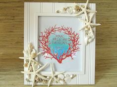 DANCING STARFISH sand dollar and shell frame by PinkPelicanDesigns,