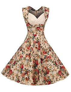 ACEVOG Women's 1950s V Neck Vintage Cut Out Retro Party Cocktail Swing Dresses - http://darrenblogs.com/2016/06/acevog-womens-1950s-v-neck-vintage-cut-out-retro-party-cocktail-swing-dresses/