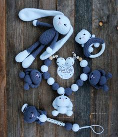 Best 11 Set PDF patterns Little Bunny and Lunny Bunny – Stroller Chain, Baby Rattle, Pacifier Chain and toy bunny 2 size 25 and (printable 4 PDF files) ENGLISH ONLY (US terminology) ♥ ♥ ♥ ♥ ♥ ♥ ♥ ♥ ♥ ♥ ♥ ♥ ♥ ♥ ♥ ♥ ♥ ♥ This is a crochet pattern PDF – N Crochet Baby Toys, Crochet Teddy, Crochet Bunny, Crochet Bear Patterns, Pdf Patterns, Amigurumi Patterns, Bunny Toys, Baby Rattle, Stuffed Toys Patterns