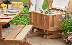 How to Build a Cedar Ice Chest Make a handsome cooler enclosure to update a backyard essential Backyard Projects, Outdoor Projects, Home Projects, Outdoor Spaces, Outdoor Living, Outdoor Decor, Outdoor Fun, Furniture Projects, Diy Furniture