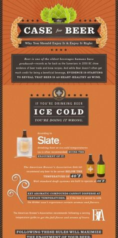 An #infographic making the case for beer. Nothing to do with #socialmedia whatsoever - but oh, so relevant!