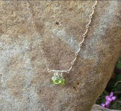 Peridot Necklace by BrownEyedGirlSB on Etsy, $25.00