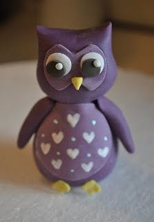 How to make an Owl Cake Topper the directions might work for clay too
