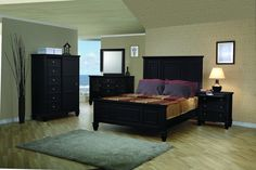 Sandy Beach Country Black Bedroom Sets CST-20132-S