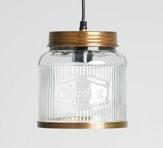 Glass Coffee Jar Pendant Light