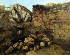 Crumbling Rocks - Gustave Courbet