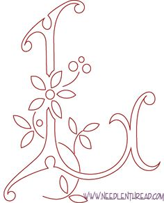 Embroidery Letter Patterns | Victorian Sewing, Embroidery Patterns, Stitches, Art and More!