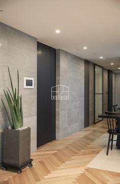 Office Interior Design, Office Interiors, Interior And Exterior, Interior Decorating, Home Design, Simple House Design, Doors And Floors, House Doors, Floor Colors