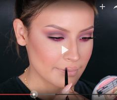 How to CORRECTLY wide-line your lips! Finally an awesome tutorial that clearly shows just how to line your lips to make them look bigger without looking like you have a painted on trout mouth! (Start by drawing in a new cupid's bow right above your own and then continue to follow down your natural lip lines to the corners of your mouth.) Genius - YouTube