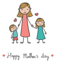 Mothers Day Drawings, Art Drawings For Kids, Drawing For Kids, Painting For Kids, Easy Drawings, Art For Kids, Happy Mothers Day Messages, Happy Mother S Day, Drawing Cartoon Faces