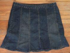 Venezia Denim Jean Stretch Blue Flare A Line Women's Skirt Size 24 Nice   eBay #RecycledCouture #Fashion #eBay