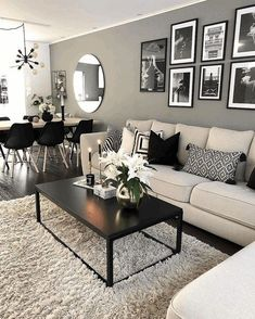 Keep up to date with the most recent small living room decor some ideas (chic & modern). Find excellent techniques for getting trendy design even if you have a small living room. Elegant Living Room, Living Room Modern, Home And Living, Cozy Living, Stylish Living Rooms, Dining Living Room Combo, Modern Living Room Designs, Modern Lounge Rooms, Small Condo Living