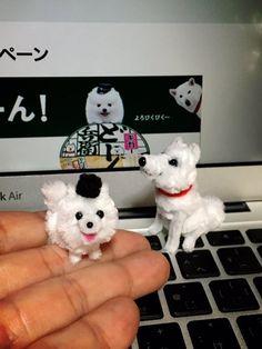 @SoftBank さんがモールでギガちゃんを作っていたので便乗してみたの巻。 @masason 孫さんモールのギガちゃんもCMに出たいと申しております^^  #ギガちゃん #ソフトバンク #ポメ #ポメラニアン #モールアート