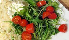 Vega: Romige risotto met courgette, rucola, tomaatjes en mascarpone