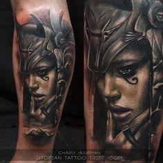 Tattoo portrait by artist Charles Huurman. | Intenze ink