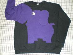 Elephant sweatshirtelephant sweater by CreativeCallipipper on Etsy, $45.00