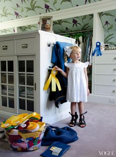 Lily Maddock's Southampton Home. I love the ribbons displayed out in a clear container, I think I need to do this.