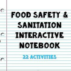 Food safety & sanitation interactive notebook for culinary foods fcs Food Science, Teaching Science, Science Education, Environmental Education, Life Science, Teaching Resources, Facs Lesson Plans, Food Safety And Sanitation, Culinary Classes