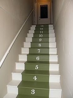 Numbered Stairway