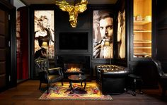 Marcel Wanders richt Kameha Grand Zürich in - Roomed Cigar Lounge Decor, Bar Lounge, Cigar Lounge Man Cave, Design Lounge, Design Hotel, Design Design, Design Trends, Ambiance Restaurant, Luxury Interior