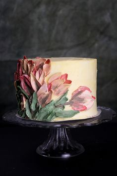 cake decorating 299278337741016923 - I Taught Myself To Paint Cakes With Palette Knives And Buttercream For My New Year's Resolution Gorgeous Cakes, Pretty Cakes, Cute Cakes, Amazing Cakes, Bon Dessert, Oreo Dessert, Dessert Ideas, Brownie Desserts, Mini Desserts