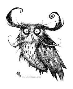 Owl by =BenBASSO on deviantART