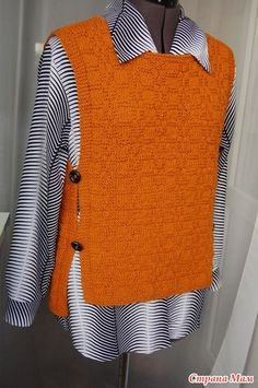 Knitwear Fashion, Knit Fashion, Fashion Sewing, Sweater Fashion, Sewing Clothes, Crochet Clothes, Loom Crochet, Knit Vest Pattern, Embroidery On Clothes