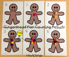 """""""Count the Gumdrops"""" Gingerbread Man Activity (free; from Heidi Songs)"""