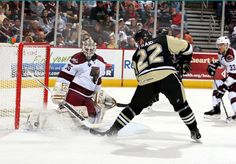 AHL Hershey Bears taking on the Scranton Wilkes Barre Penguins.    Get your hockey fix at one of Pennsylvania's professional minor league teams. No nosebleed seats here, just great action, up close and personal.        Photo by the Hershey Bears