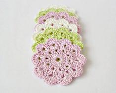Crochet coasters drink coasters crochet flowers by AnaidHandmade