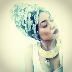 Head scarf or turban Turbans, Headscarves, Bandanas, African Head Wraps, Head Wrap Scarf, Turban Style, Bad Hair Day, Hair Journey, Mode Inspiration