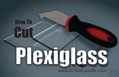 DIY How to Easily Cut Plexiglass. Learn just how easy it is to cut straight lines and curves in plexiglass. We use a plexiglass knife, razor and dremel grind. Outdoor Projects, Diy Projects, Project Ideas, Diy Iron Pipe, Home Fix, Acrylic Sheets, Dremel, Display Case, Plexus Products