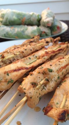 Thai Coolers: Chicken Satay and Fresh Spring Rolls