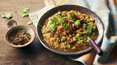 Nadiya's dal recipe - BBC Food Vegetarian Recipes Bbc, Bbc Good Food Recipes, Veggie Recipes, Indian Food Recipes, Cooking Recipes, Healthy Recipes, Ethnic Recipes, Veggie Meals, Free Recipes
