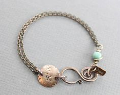 This copper bracelet made with white teardrop shape Swarovski pearl framed with antique finish copper hoop, finished up with white leather cord and embellished with artsy swan shape hook clasp made with 16 gauge solid copper wire. ATTENTION - ORDERS TO US: Shipping to US uses USPS First Class shipping option. Delivery standard time 2-3 business days with USPS Tracking number. USPS Priority Shipping can be selected on checkout for additional cost. HOW TO MEASURE YOUR BRACELET SIZE: Measure…